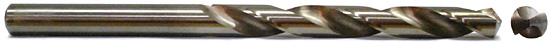 taper length drill - side and front view