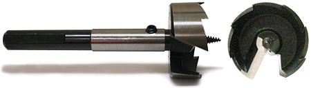 multi-spur pipe bit - side and front view