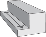 square cut cross section